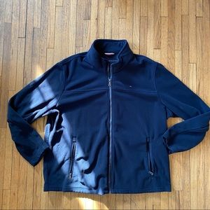 Tommy Hilfiger Full Zip Up Fleece Sweatshirt Blue